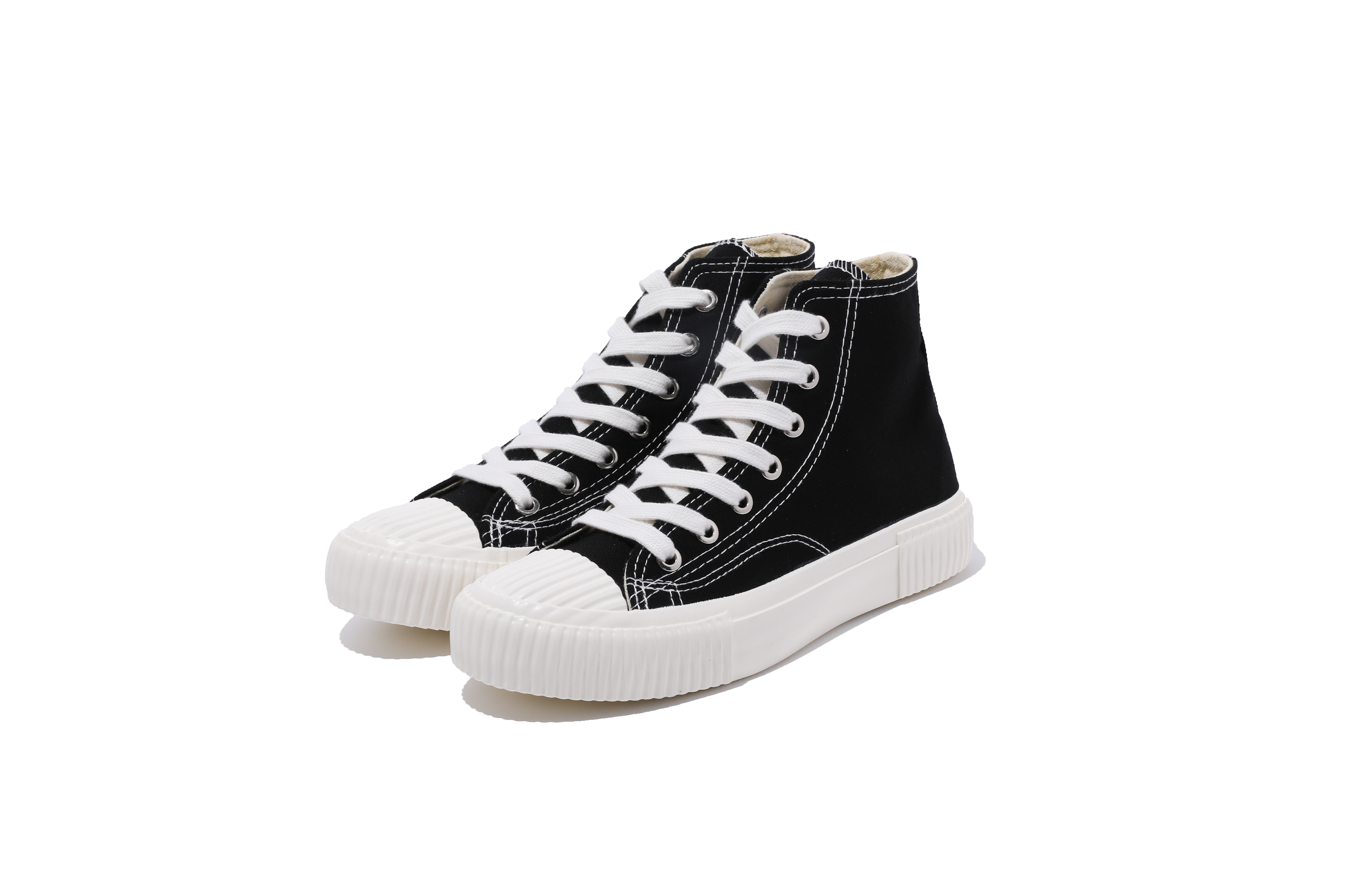 High quality chinese manufacturers ladies black canvas shoes
